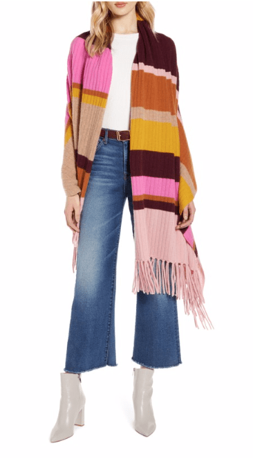 Nordstrom cashmere wrap scarf shawl