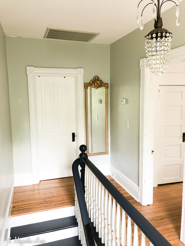 White and black painted stairs steps | 11 Magnolia Lane