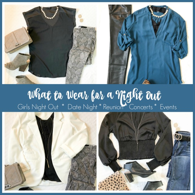 Date night, girls night out and other evening event fashion and outfit ideas, especially for women over forty!