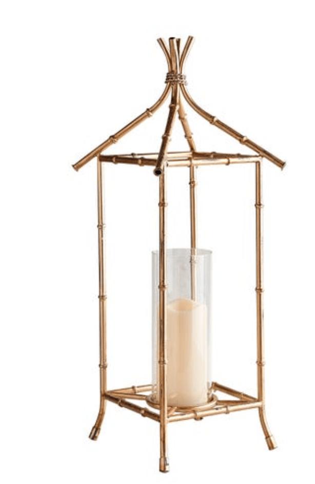 Gold bamboo lantern