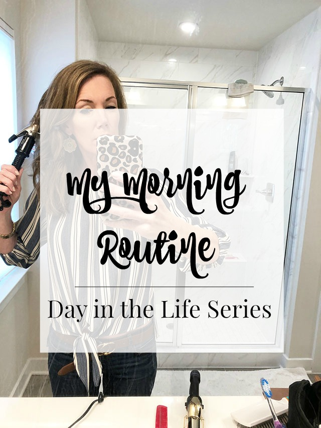 How I get my day started each day, my morning routine.