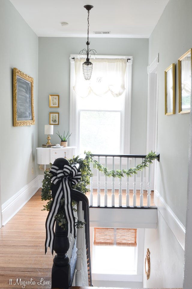 How to paint a stairwell without a ladder or scaffolding | 11 Magnolia Lane
