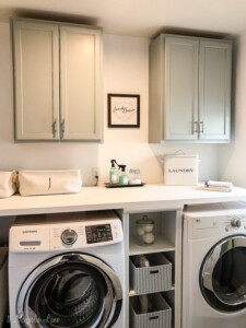 Adding Inexpensive Painted Cabinets in Our Laundry Room