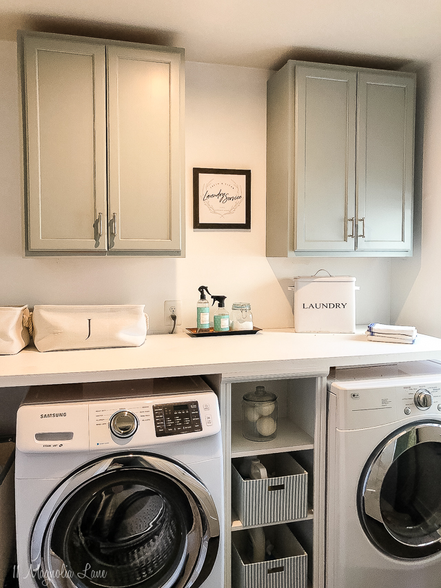 Adding Inexpensive Painted Cabinets In Our Laundry Room 11 Magnolia Lane