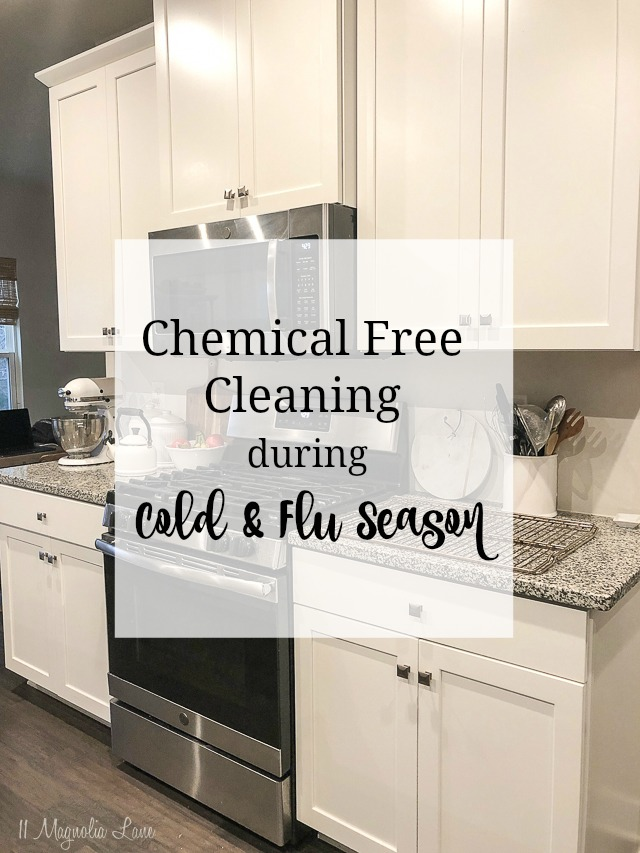 Natural ways to keep your house germ free during winter cold and flu season without using harsh chemicals.