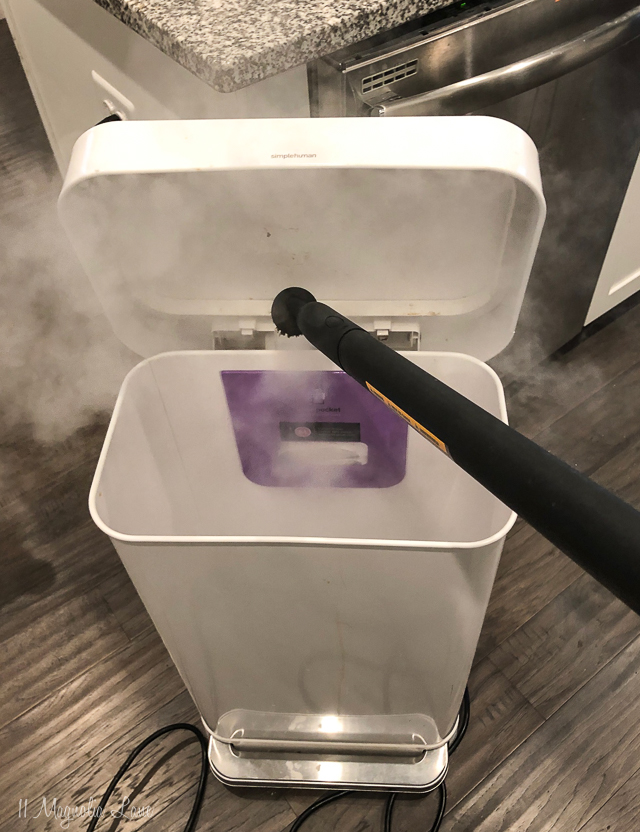 Easily clean the inside of your trashcan and make it germ free