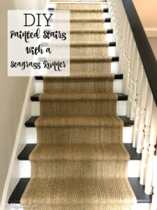 Magnolia Cottage: Installing a Seagrass Runner on the Stairs