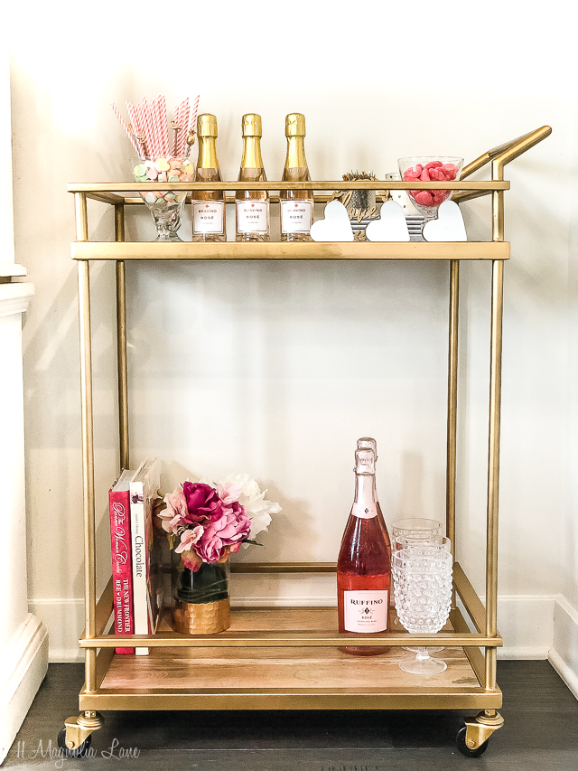 A Valentine's Bar Cart (& Decor)