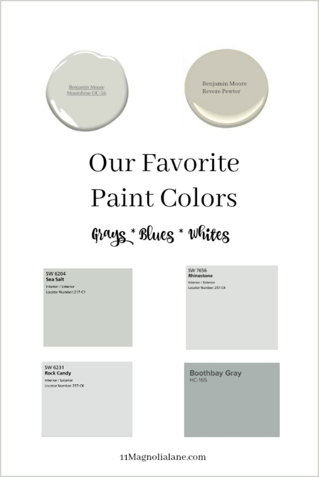 The best gray, white and neutral paint colors for your home. Shown in real rooms.