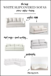 The Best, Affordable Slipcovered Sofa Options