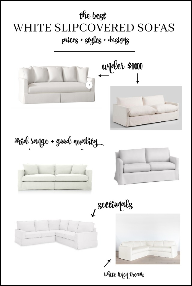 The best affordable white sofas, slipcovered and sectionals. Budget friendly, quality options.