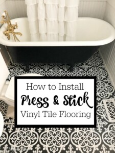 How We Installed Our Press and Stick Vinyl Floor Tiles