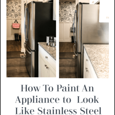 How to paint an appliance to look like stainless steel, this black sided refrigerator got a new update with some paint.