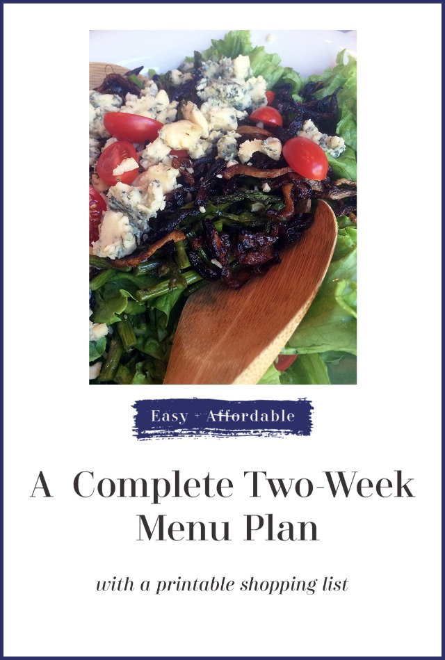 Friday Free For All: Another 2-Week Menu Plan