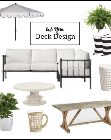 Outside Deck Area Affordable Black and White Design Board