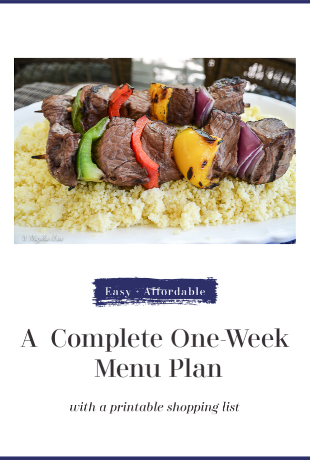 One-Week Menu Plan