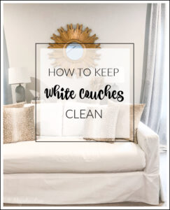How to keep white sofas looking clean with kids and dogs