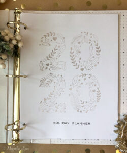 A free printable holiday planner for 2020
