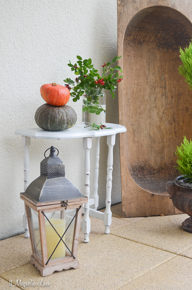 Vintage Table and Our Fall Balcony
