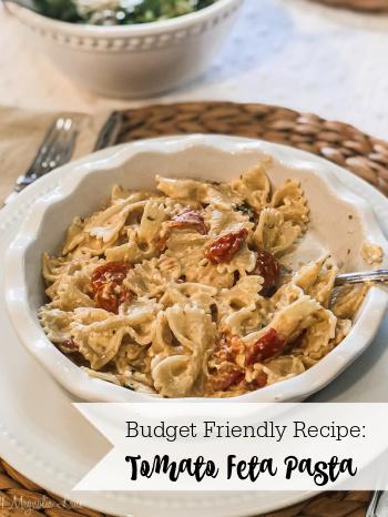 Easy Weeknight Dinner--Tomato Feta Pasta