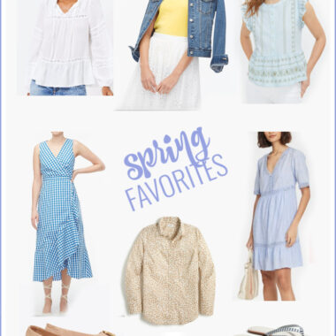A collection of affordable fashion finds for spring