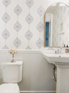 Our Powder Room Makeover with Serena + Lily Wallpaper