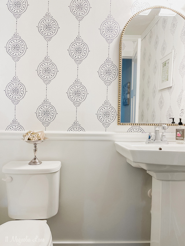 How To Easily Install Serena and Lily Wallpaper in a Bathroom