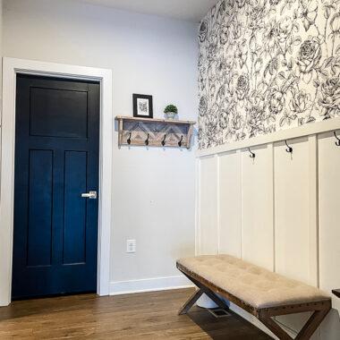 painting interior doors tricorn black by Sherwin Williams