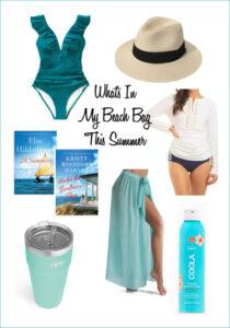 favorite items in my beach bag