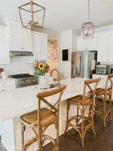 Updated builder kitchen with craftsman details