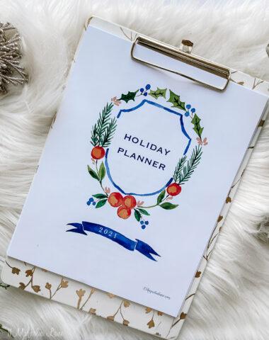 printable holiday planner (free)