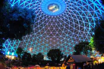 Image result for mitchell park domes turn teal