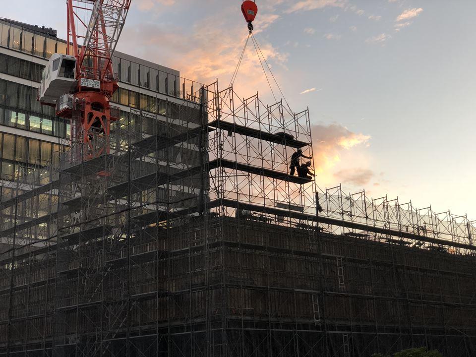 京急グループ本社ビルの建設中写真(2018年11月)