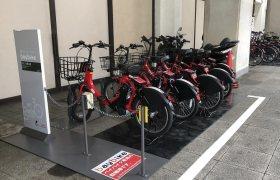 新たに本牧方面に追加されたベイバイクのサイクルポート