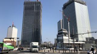 2019年3月の様子:横浜新市庁舎、ザ・タワー横浜北仲、アパ&リゾート横浜ベイ
