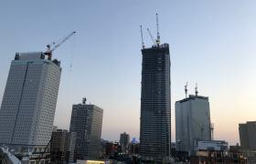 横浜北仲の再開発の様子