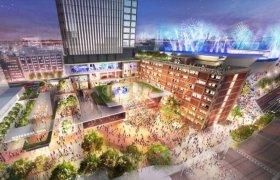 関内駅前の現市庁舎街区に建設予定の商業施設イメージ