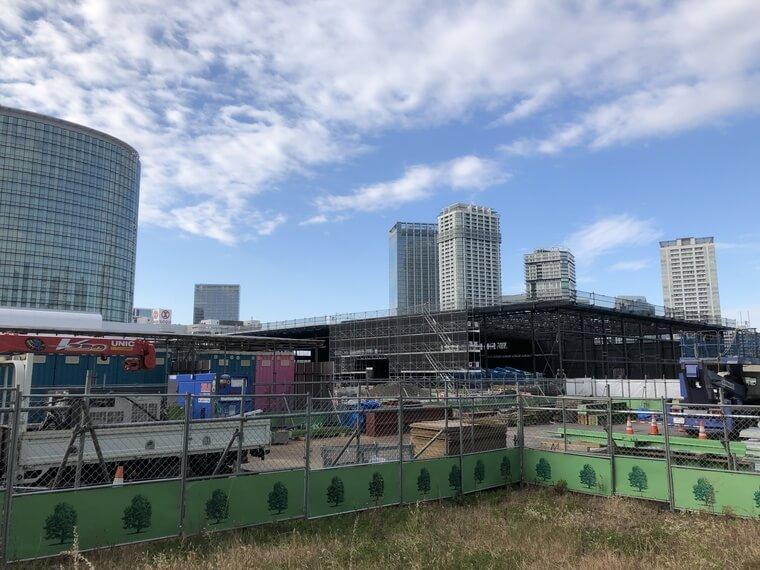 日産パビリオン横浜の建設工事写真