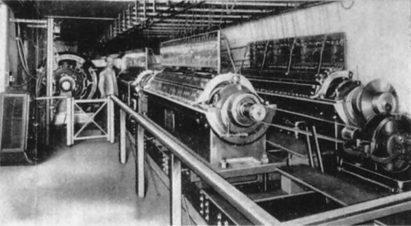 Tone rotors of the MkII Telharmonium in the basement of Telhamronic Hall c 1907