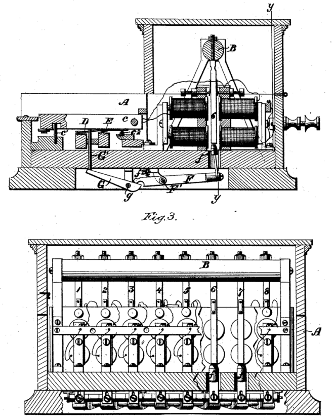 Elisha Gray's patent of the Musical or Harmonic Telegraph of 1876