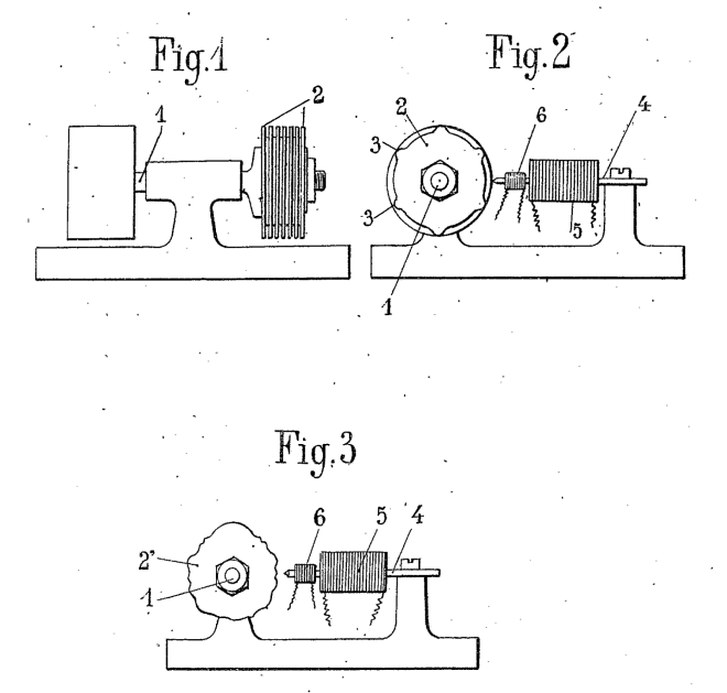 Hugoniot's patent for a tone-wheel sound generator December 1919