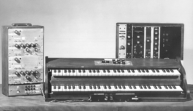 Early version of the Moog Modular, 1964