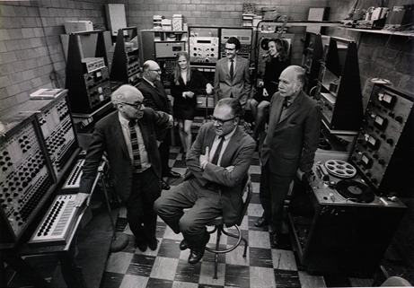 Babbit, Luening, Ussachevsky and others at the RCA MkII