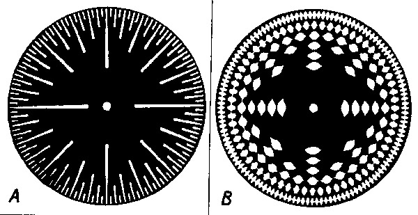 The celluloid disks of the Superpiano for creating tones and harmonics