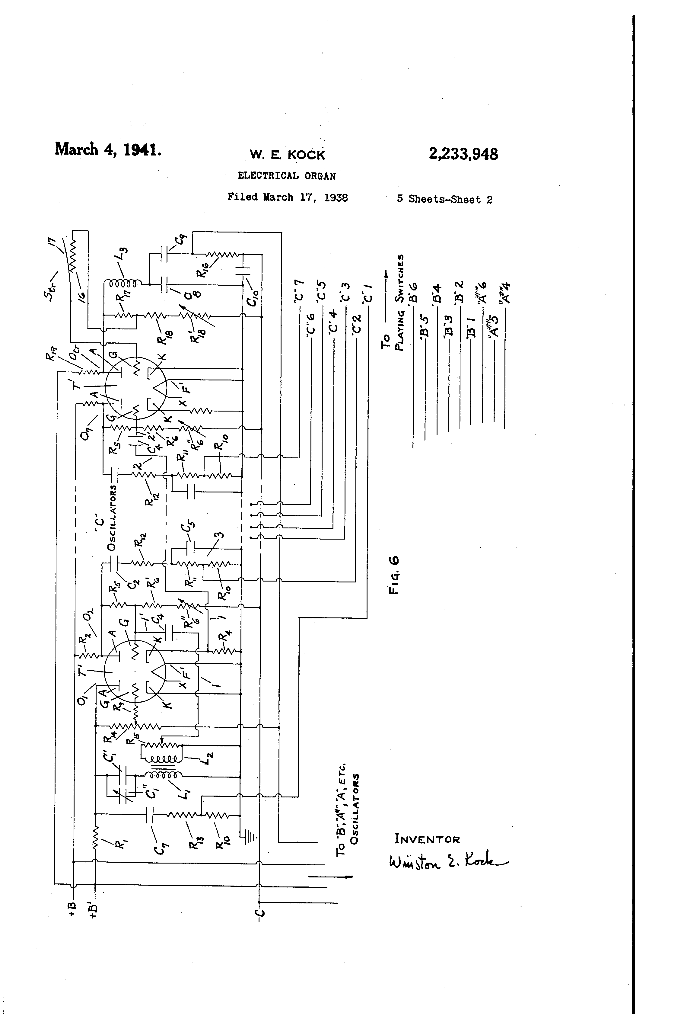Organ Circuit Schematic As Well Electronic Organ Schematic Circuit