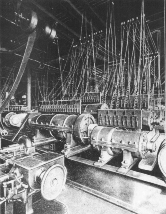 Dynamo tone generators at Cabot Street Mill.
