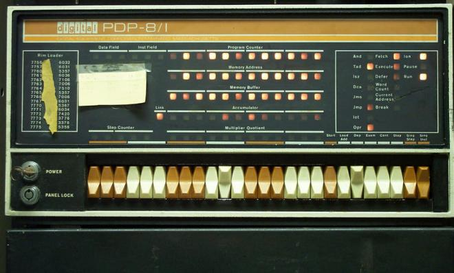 Front panel of the DEC PDP8i