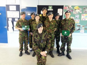 Lauren Arnold with 1220 cadets after their assessments