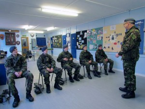 FS (ATC) Goodall and 1220 cadets at the weapons training session at 1220 HQ.
