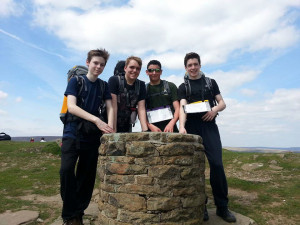 1220 cadets in Edale